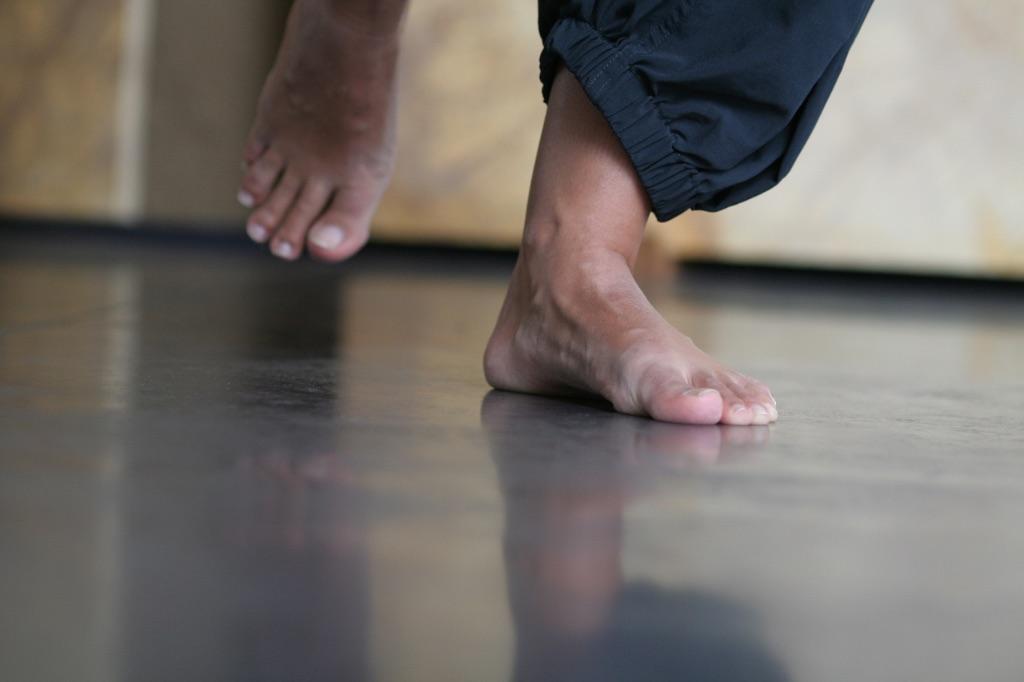 stappende voeten verkleind